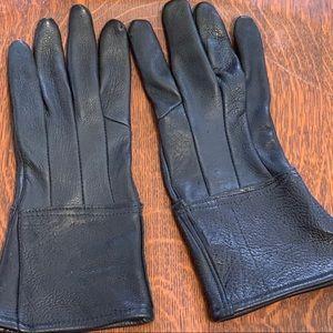 Other - Deer Leather Gauntlet Style Gloves - Black NWOT